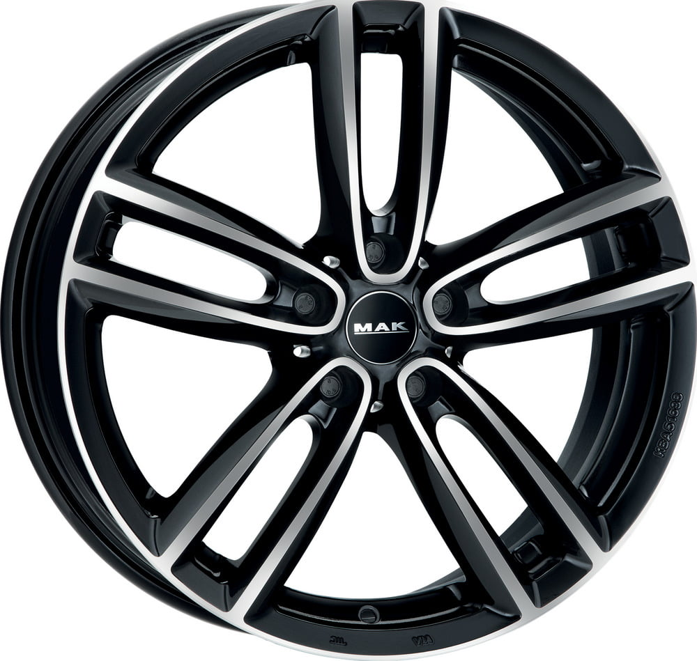 Cerchi Mak Oxford 7.5x17 5x112 ET52 66.6 Glossy black polished face